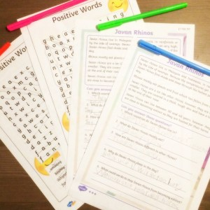Worksheets to accompany Ronald the Rhino eBook.