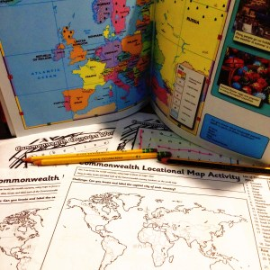 Oxford First Atlas and Twinkl worksheets.