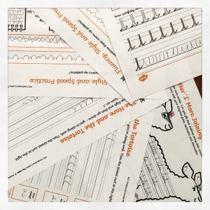 Twinkl Handwriting worksheets.