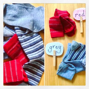 Basic cleaning activities: sock sorting!