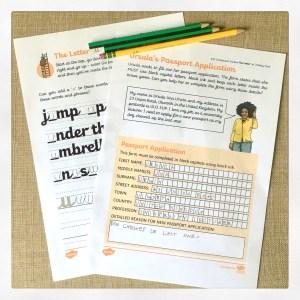 Twinkl Handwriting worksheets.