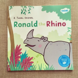 Ronald the Rhino picture book.
