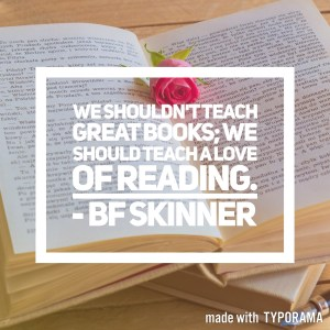Inspirational homeschool quotes - featuring BF Skinner.