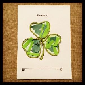 St Patrick's Day shamrock collage.