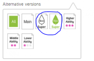 Twinkl Green Week super-eco print options.