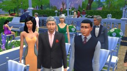 These are some well dressed wedding guests!
