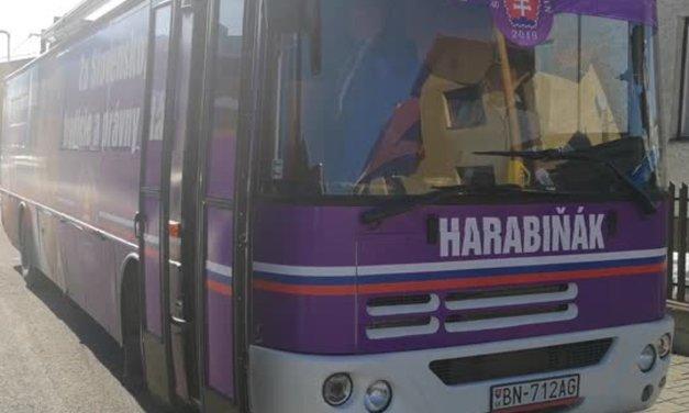 MIMORIADNA SPRÁVA: Kampaň Harabina protiprávne používa dopravný prostriedok