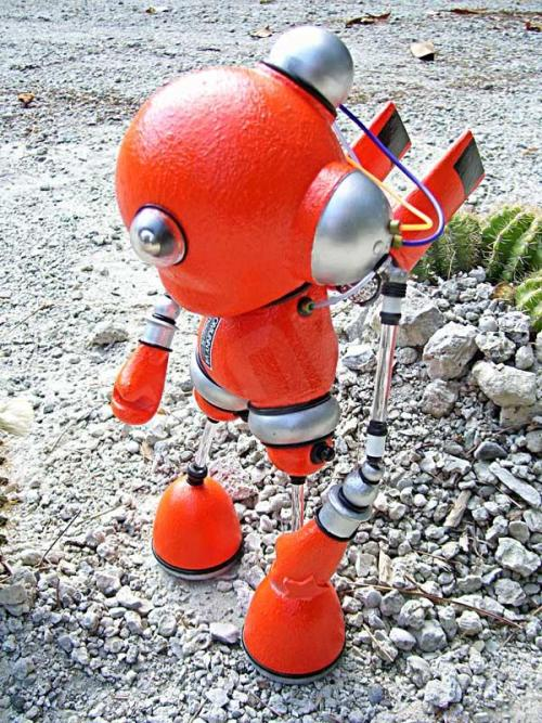 Mike Slobot Robut Kidrobot Munny space age orange silver