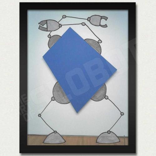 Ellsworth Kelly Dancing Robot Art Print Blue Mike Slobot Pop Art