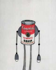 campbells soup robots andy warhol pop art robots