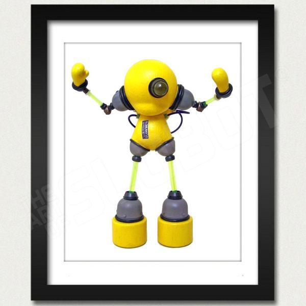 Slomunny v3 Robot Photo Print Framed View