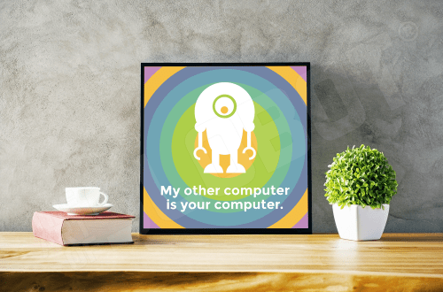 Mike Slobot - My Other Computer Is Your Computer Black Desk Frame