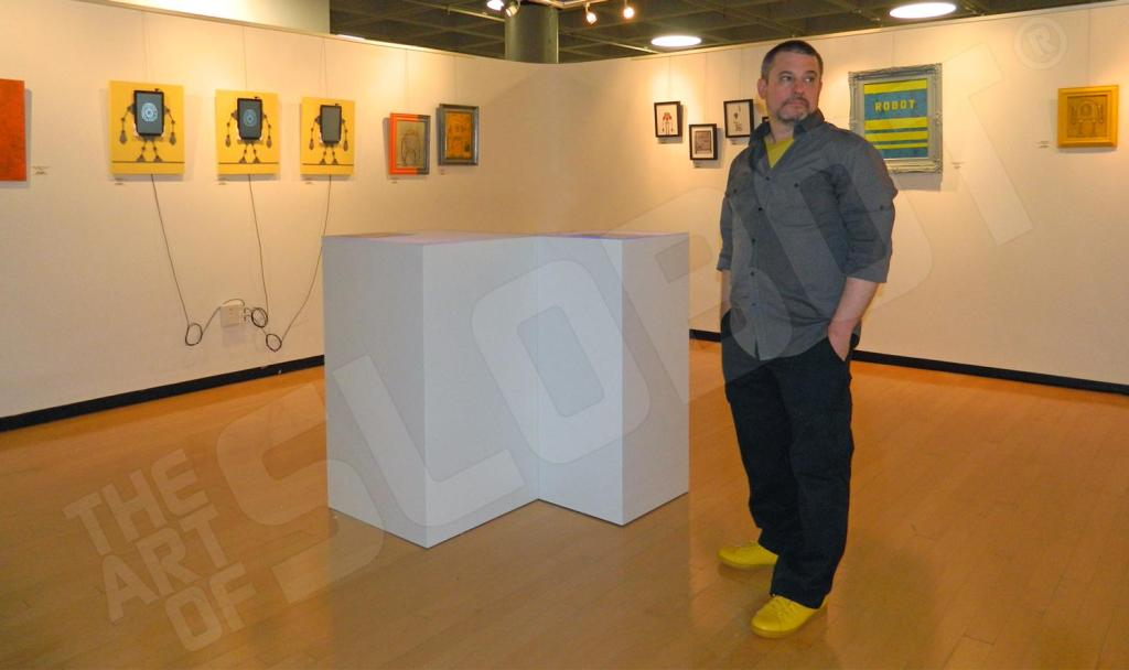 Mike Slobot in the Louise Brown Gallery at Duke University