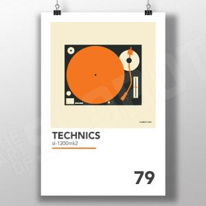 Mike Slobot Minimal Design for classic turntable technics 1200mk2