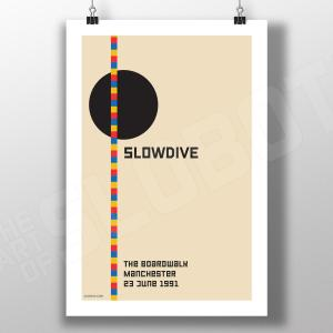 Mike Slobot Slowdive Live Manchester UK 1991 Alternative Poster Done in the Style of the Bauhaus