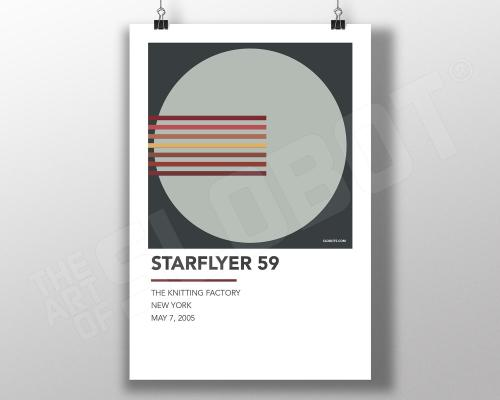 Mike Slobot - Alternative Gig Poster inspired by Starflyer 59 Live at the Knitting Factory NYC in 2005