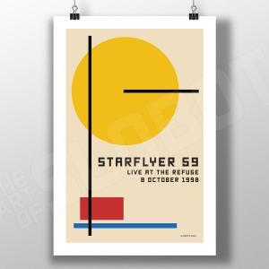 Mike Slobot bauhaus inspired art for Starflyer 59 Live at the Refuge in Tampa, FL 1998