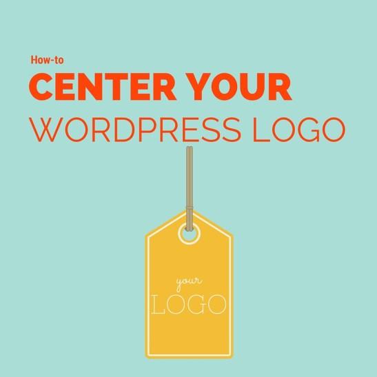 how to center your wordpress logo