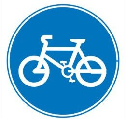 cycling traffic sign