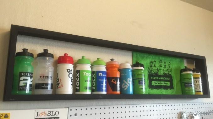 DIY Cycling Water Bottle Display Case