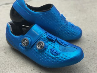 shimano rc9 s-phyre road cycling shoe blue review