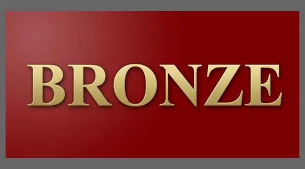 Photoshopping Bronze Text