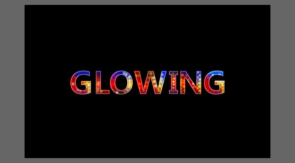 How to make colourful glowing neon text effect