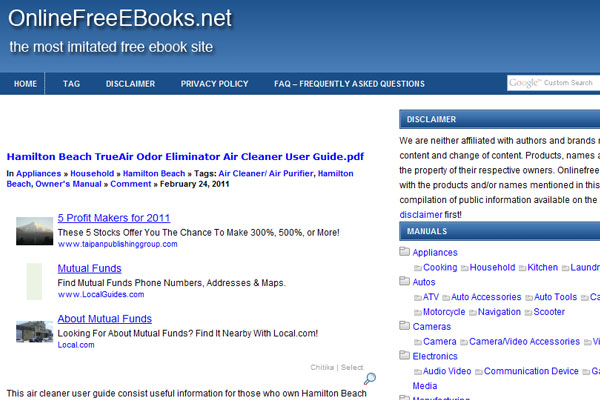 Online Free e-Books