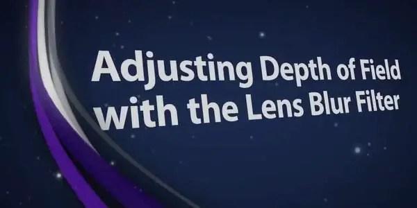 Adjusting Depth of Field