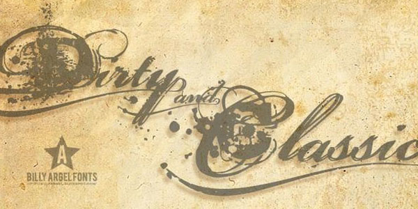 Dirty and Classic font