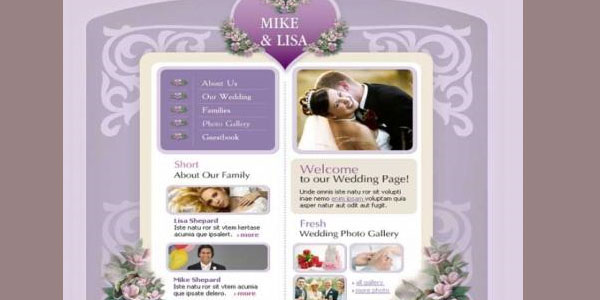 Free Welcome To Our Wedding Website Template