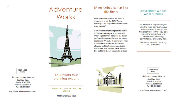 Free Travel Broucher Template