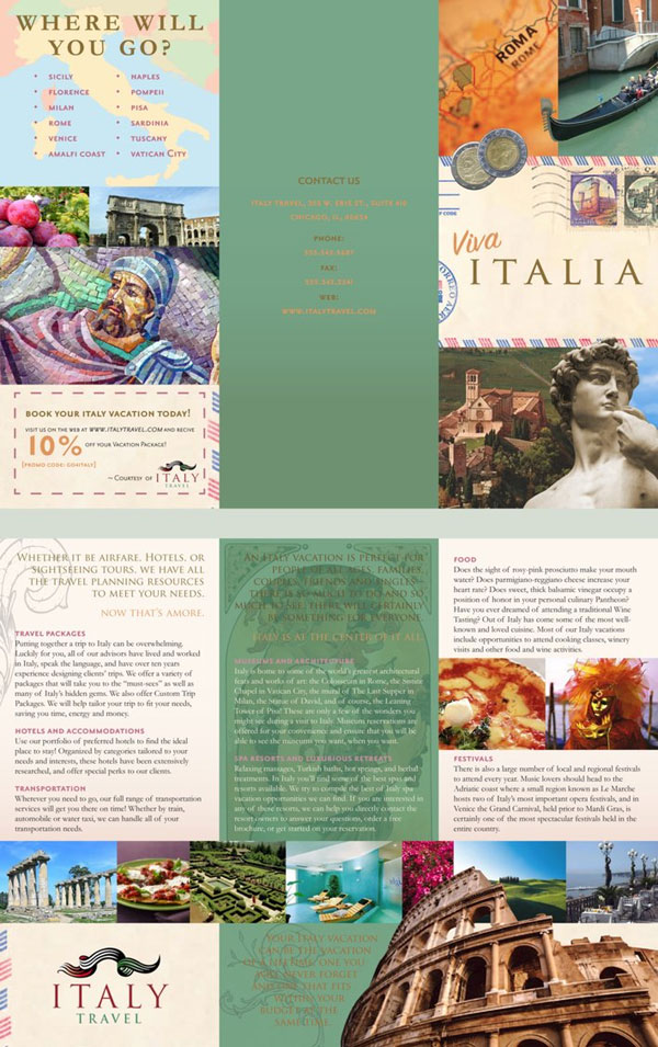 Graphic Art: Travel Brochure
