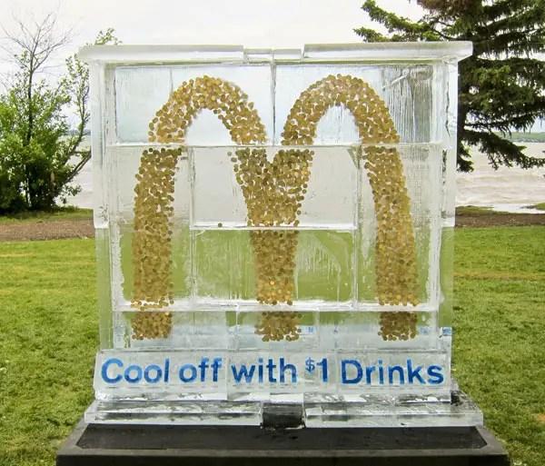 McDonald's: Ice Sculpture Stunt