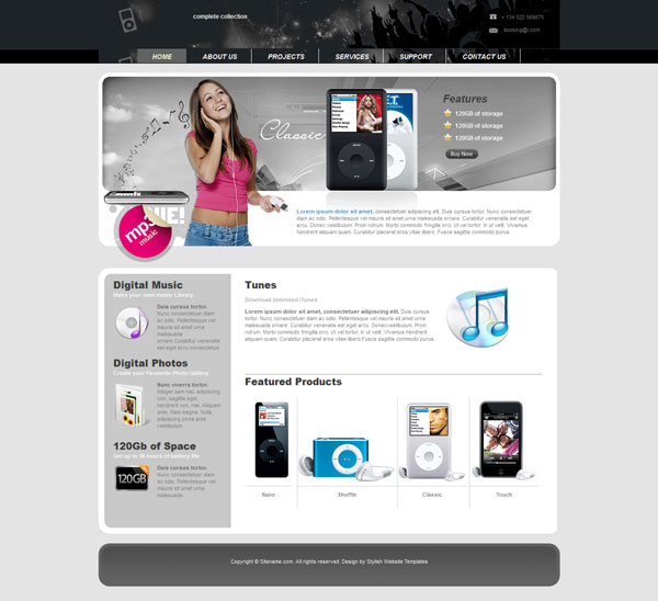 Electronics Web Template