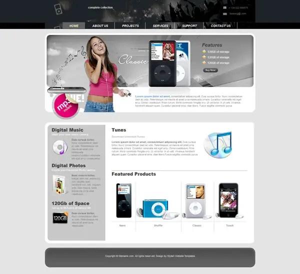 Electronics Web Template