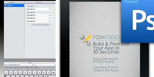 iPad GUI Kit in PSD Format is Here!