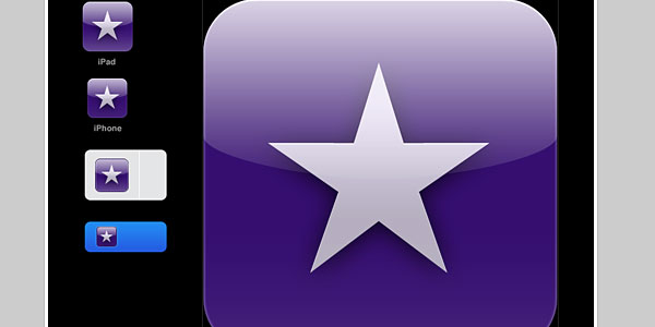 iPad icon PSD template