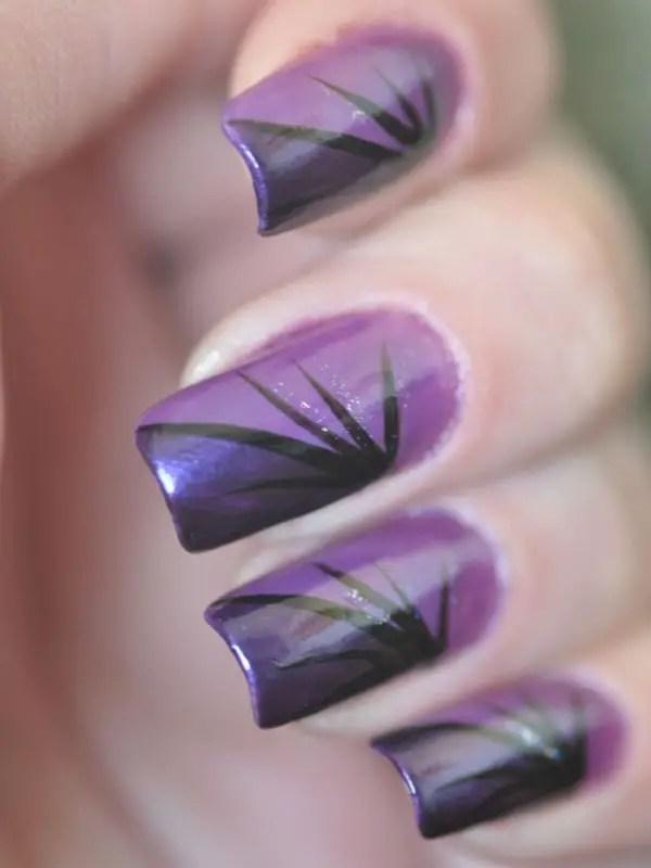 Beautiful Elegant Purple Nail Polish Designs