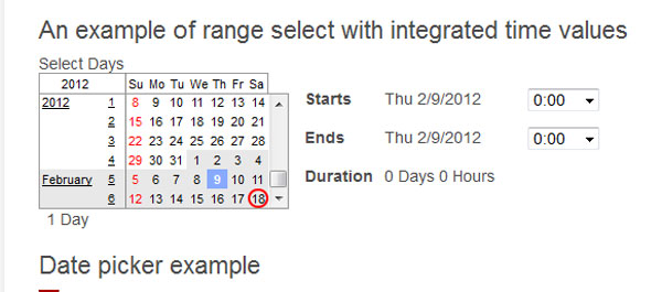 jQuery Continuous Calendar