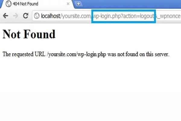 404 logout page