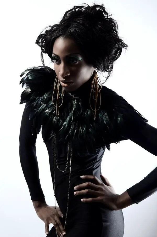 Stylish Black Hair With Fashionable Odd Look