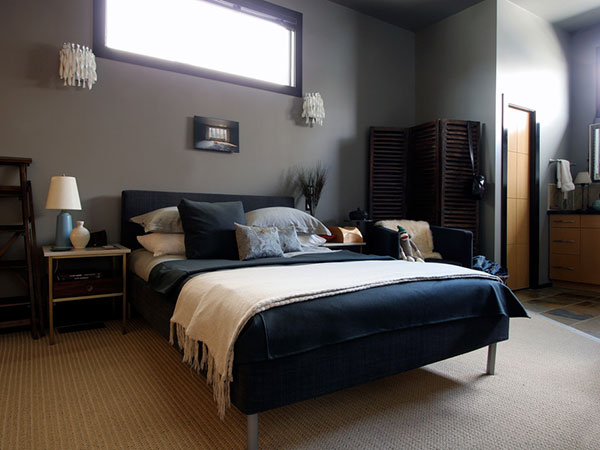 Dark Blue Gray Bedroom contemporary gray and dark blue bedroom ideas walls on pinterest