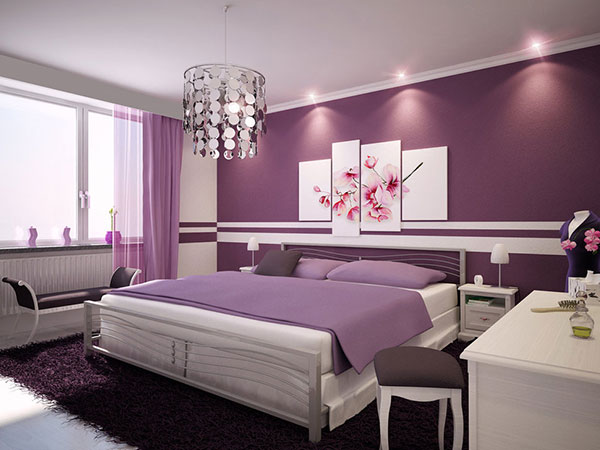 Purple Wine Bedroom