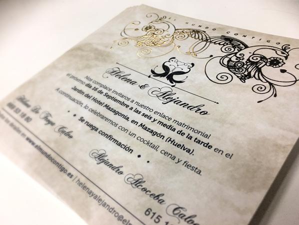 Invitación de Boda Helena & Alejandro
