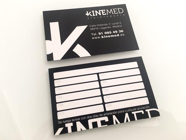 Tarjetas de visita Kinemed Fisioterapia