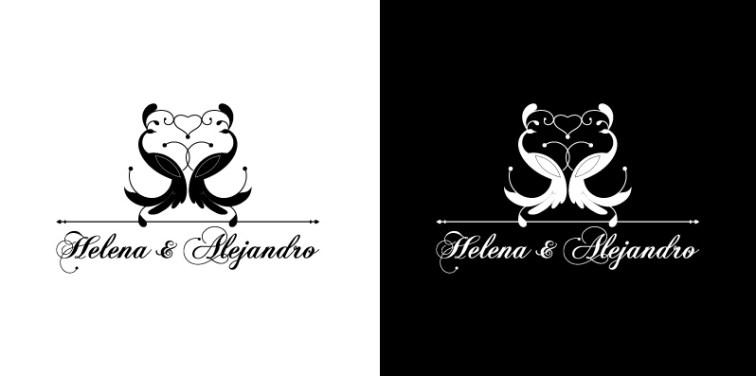 Logotipo Boda H&A