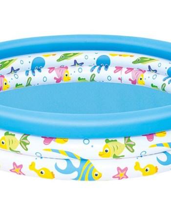 Dječji bazen na napuhavanje, Bestway, obiteljski plastični bazen za dvorište okrugli, ribice