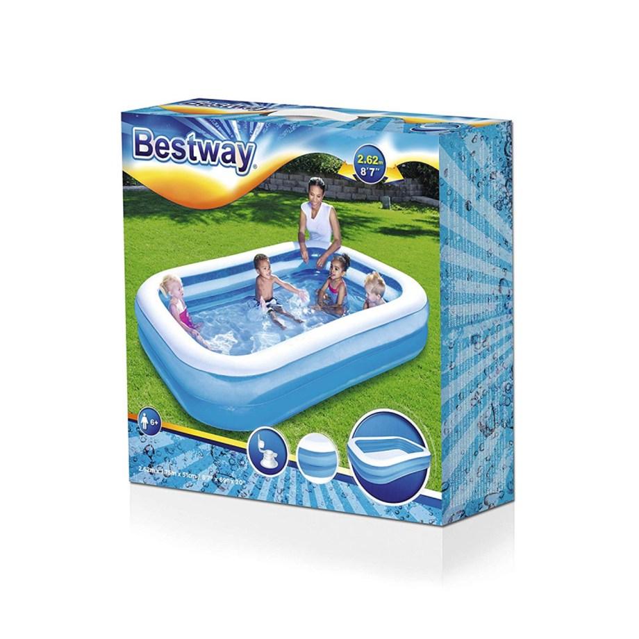 Bazen na napuhavanje, Bestway, obiteljski plastični bazen za dvorište
