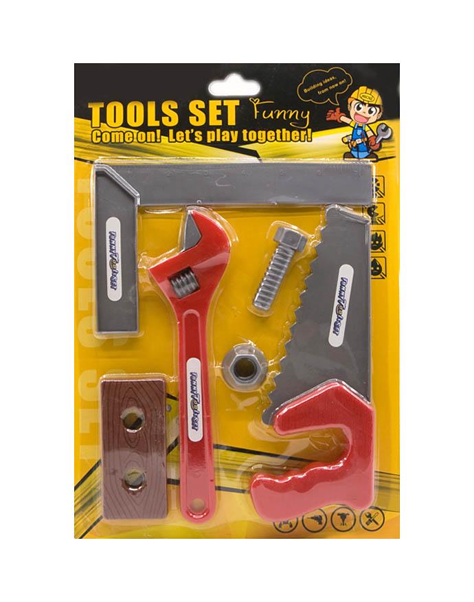 Igračka Set Alata Tools 6/1. Set se sastoji od 6 raznih alata i dodataka.